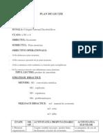 PLAN DE LECȚIE-Ploscariu-Cismas Lavinia