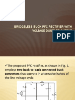 Bridgeless Buck Pfc Rectifier With Voltage Doubler Output