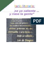 Comentario Literario - Ándeme yo caliente... - Pablo Brenes Guillén