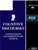 Cognitive Discourses International Multidisciplinary Journal Vol 1 Issue 1 July 2013 Nas Publishers
