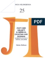The Verbs Znati and Um(j)Eti in Serbian, Croatian and Bosnian