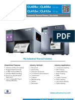 Sato CLe Series Industrial Thermal Printer Brochure