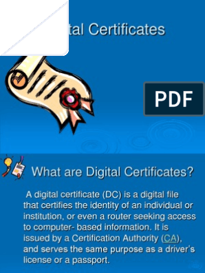 Digital Certificates | Public Key Cryptography | Public Key