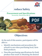 Produce Safety - Procurement