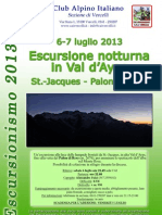 Escursione notturna in Val d'Ayas