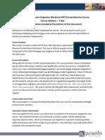 Syllabus SAFE 20 Hour MD Comprehensive PE