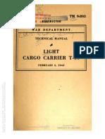 Tm 9-893 LIGHT CARRIER T-15