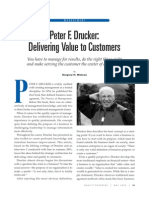 Drucker - Delivering Value to Customers