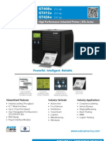 Sato GTe Series Industrial Thermal Printer Datasheet
