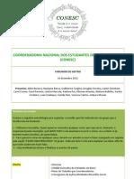 RELATORIA- II REUNIÃO CONESC-2012