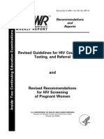 Revised Guidelines for HIV Counseling, Testing, Referral