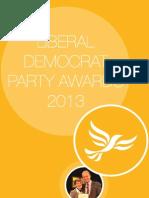 Liberal Democrat Party Awards Pack 2013