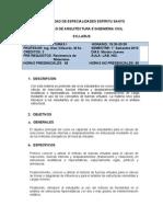Syllabus Estructuras i 2013 A