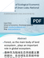Evaluation of Ecological Economic Functions of Jinan Liubu National Forest Park