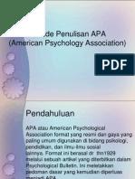 Metode Penulisan APA