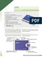 Convertidor USB-Serial Nport 1240-Moxa
