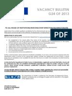 Bulletin G24 2013