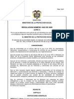 RESOLUCIÓN 1842 DE 2009
