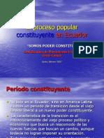 El Proceso Popular Constituyente en Ecuador