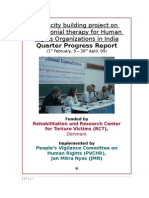 Last Quarter report of pilot project on testimony therapy