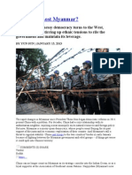 Has China Lost Myanmar.doc