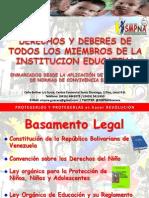Derechos y Deberes de Todos Los Miembros de La Institucion Educativa
