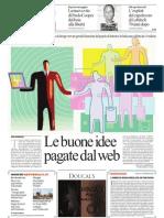 Le buone idee pagate dal web - Repubblica 19-06-2013
