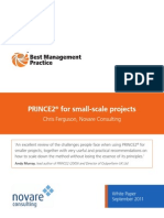 Prince2 Small Scale Projects White Paper