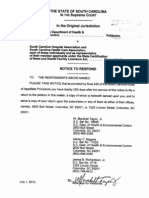 DHEC Certificate of Need lawsuit