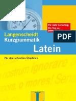Kurzgrammatik-Latein