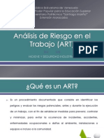 Análisis de Riesgo en el Trabajo (ART)
