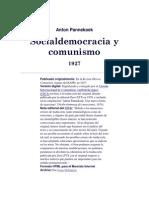 Anton Pannekoek_ Socialdemocracia y Comunismo