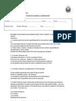 Colegio Libertadores evaluacion charlie y el ascensor 8º