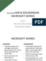 Kelebihan & Kekurangan Microsoft Words