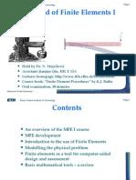 Method of finite elements by Dr. Mojsilovic