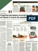 Expertos peruanos recrean la vida en Marte a través de mundos virtuales