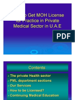 MOH Liscense Information in PDF