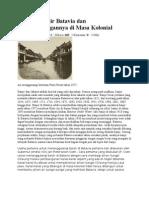 Sejarah Banjir Batavia Dan Penanggulangannya Di Masa Kolonial