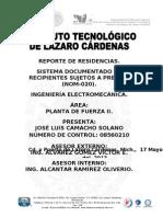 Sistema documentado de recipientes sujetos a presión y sus capacidades (NOM-020).