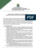 Edital de seleção de bolsistas para os projetos de extensão - 2013