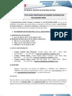 Edital Processo Seletivo 2013 Prof Ensino Superior