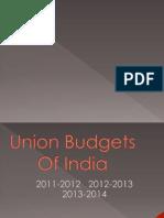 Union Budgets of india