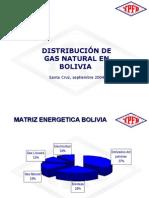DISTRIBUCIÓN DE GAS NATURAL EN BOLIVIA  GLP