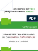 Uso del video para promocionar eventos y congresos - Wonference