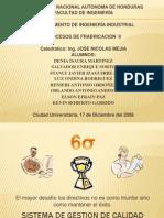Trabajo Original de Procesos (6 Sigma)