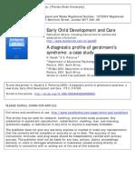 A Diagnostic Profile of Gerstmann's Syndrome. a Case Study