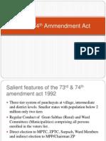 73rd & 74th Ammendment Act (1)
