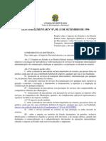 Leicomplementar 87 13 Setembro 1996 370965 Normaatualizada Pl