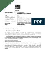 teoría de la arquitectura I-2010-1-programa