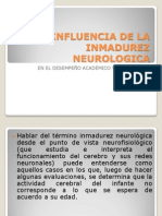 INFLUENCIA DE LA INMADUREZ NEUROLOGICA.pptx